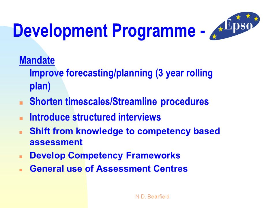 Development Programme -