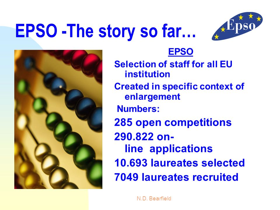 EPSO -The story so far… 285 open competitions