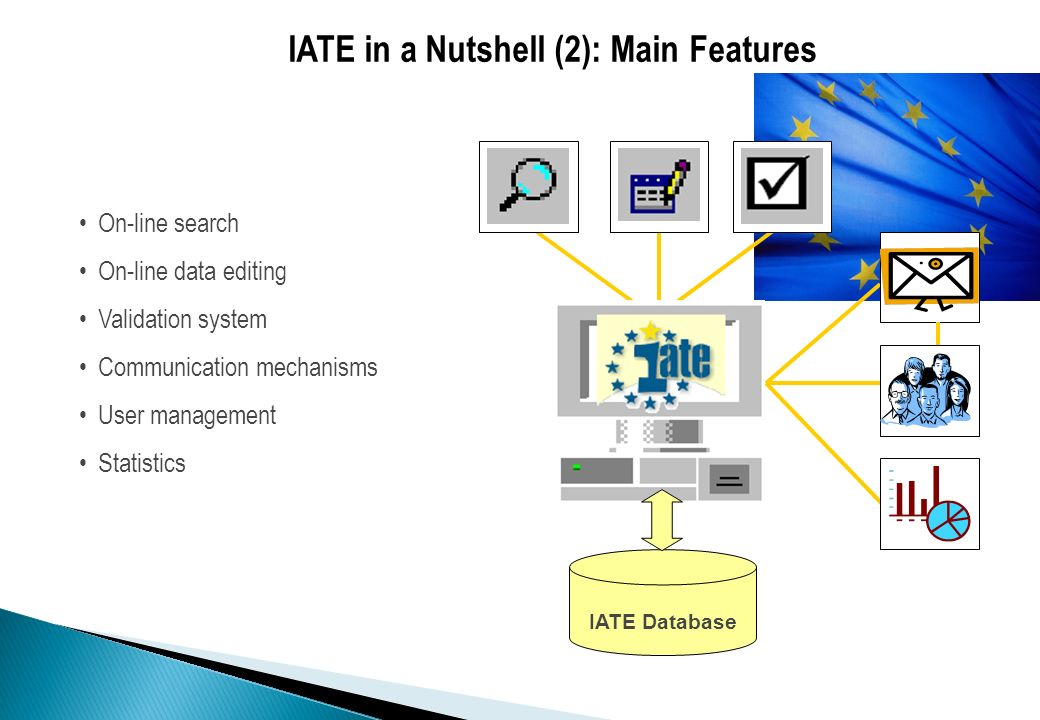 IATE in a Nutshell (2): Main Features