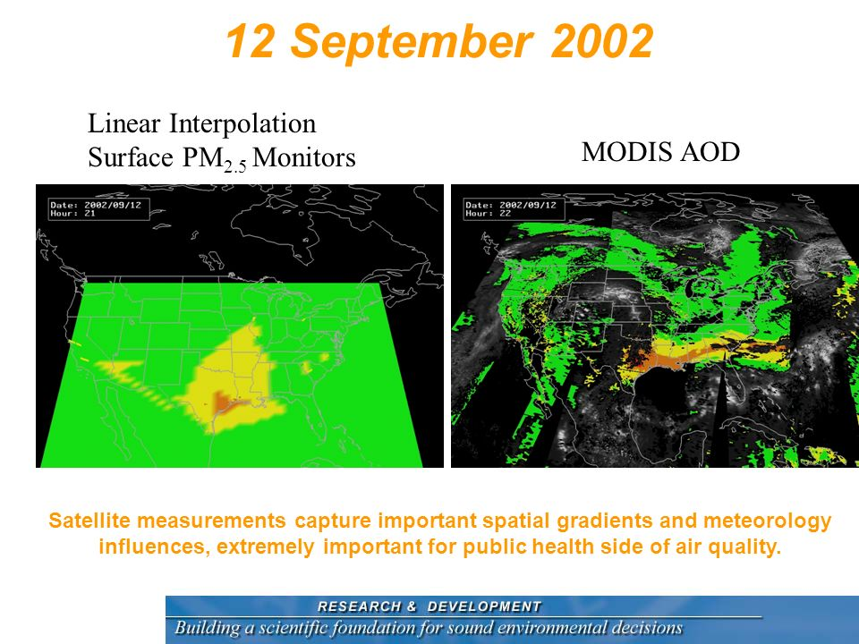 12 September 2002 Linear Interpolation Surface PM2.5 Monitors