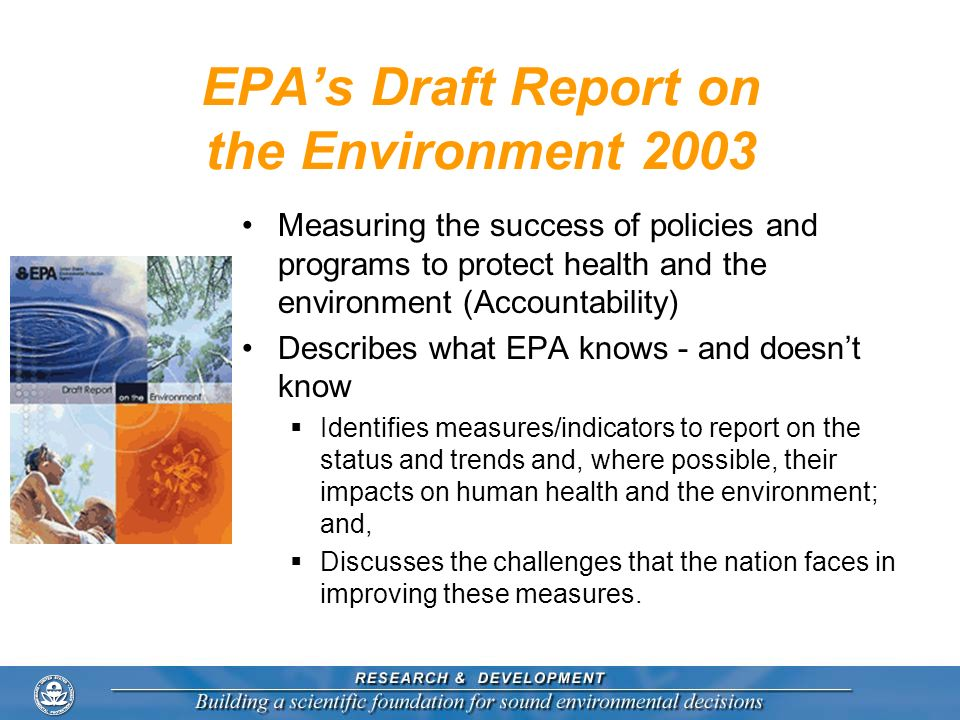 EPA's Draft Report on the Environment 2003