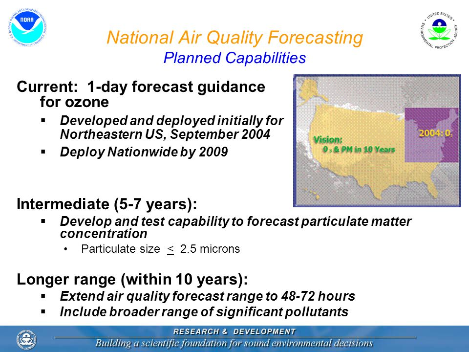 National Air Quality Forecasting Planned Capabilities