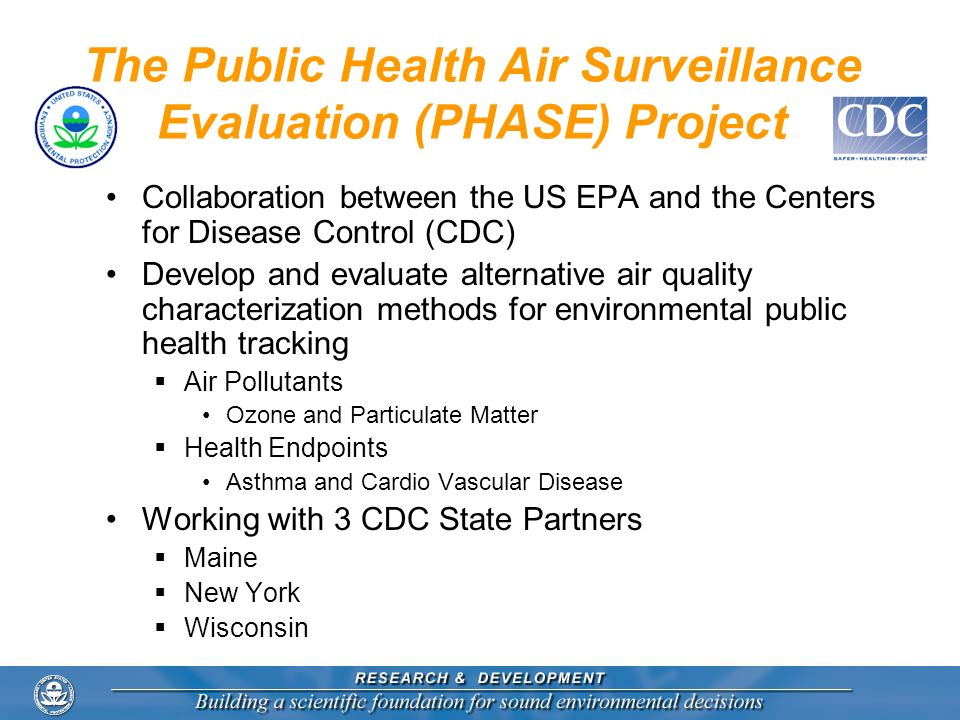 The Public Health Air Surveillance Evaluation (PHASE) Project