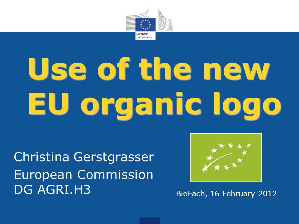Use of the new EU organic logo