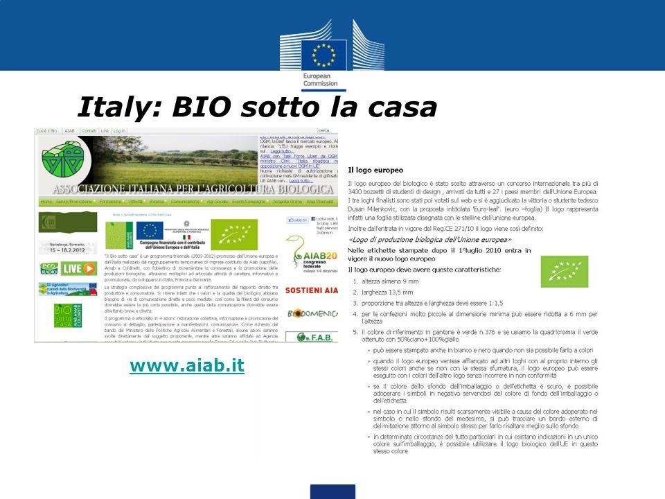 Italy: BIO sotto la casa