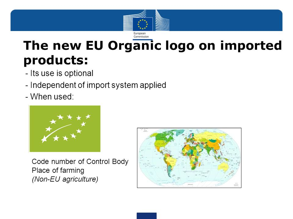 The new EU Organic logo on imported products: