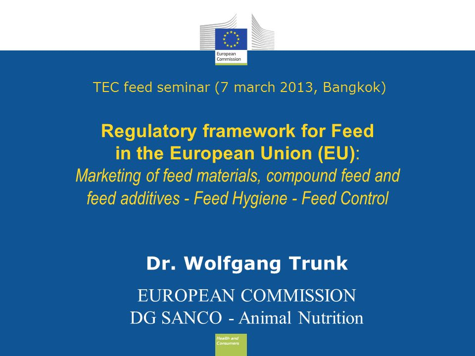 DG SANCO - Animal Nutrition