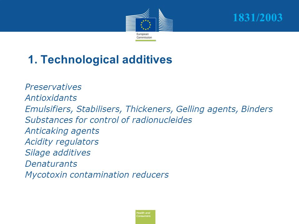 1. Technological additives