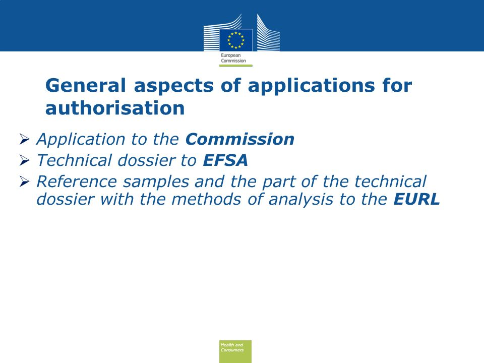 General aspects of applications for authorisation