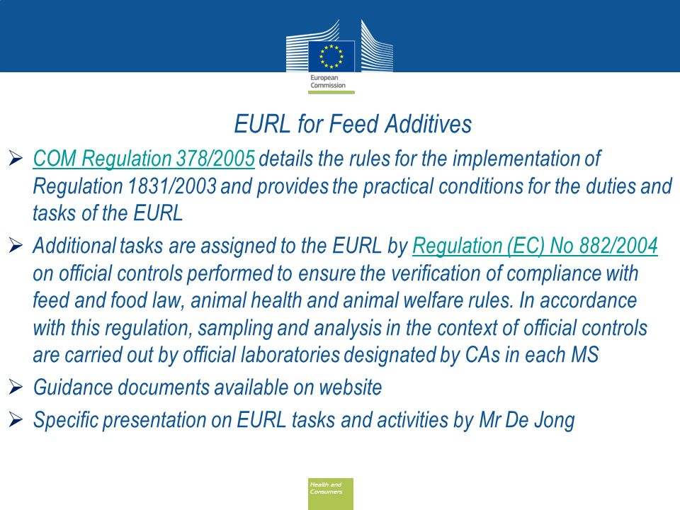 EURL for Feed Additives
