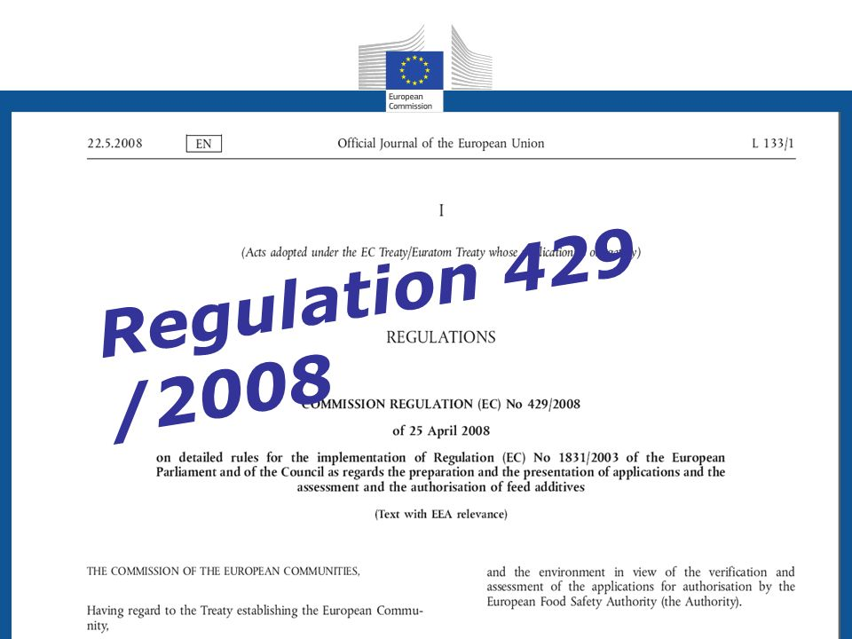 Regulation 429 /2008