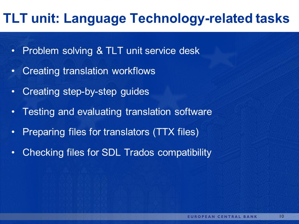 TLT unit: Language Technology-related tasks