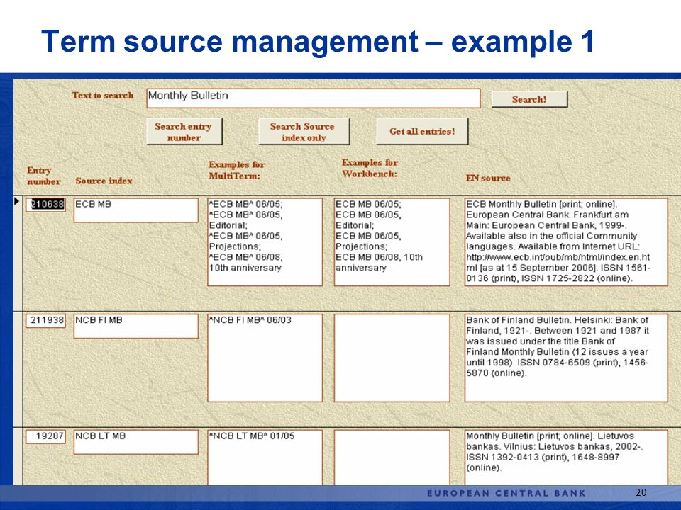 Term source management – example 1