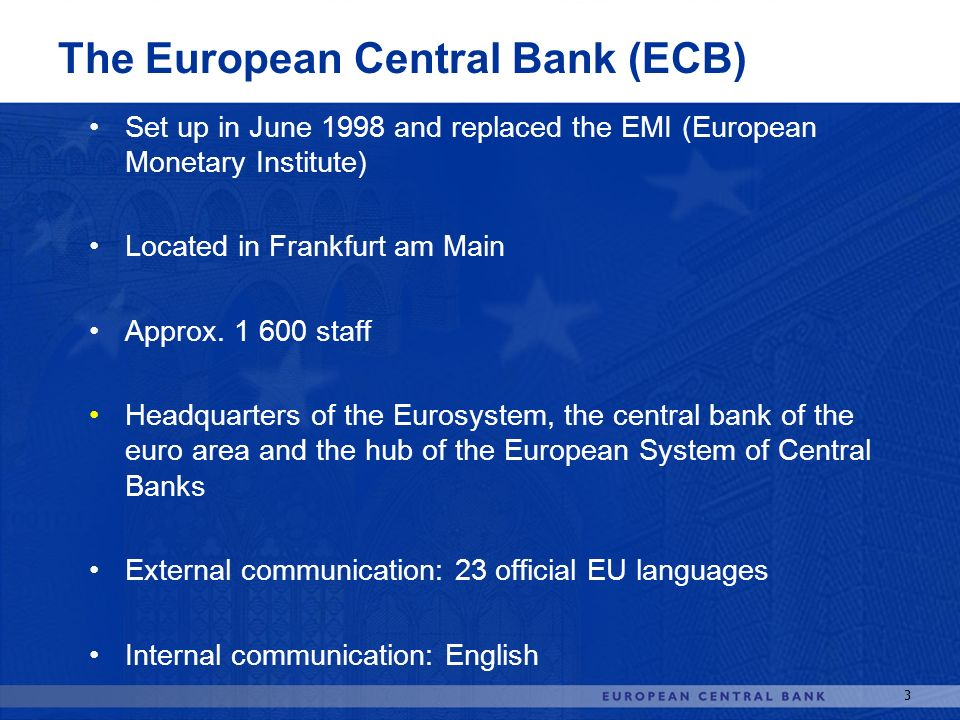 The European Central Bank (ECB)