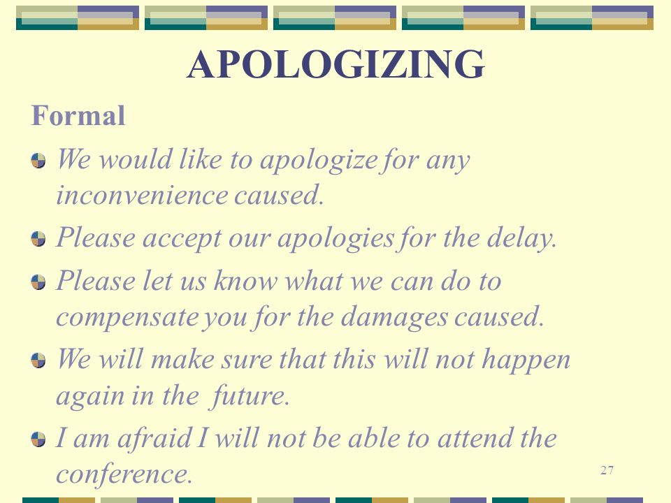 i apologies for the delay