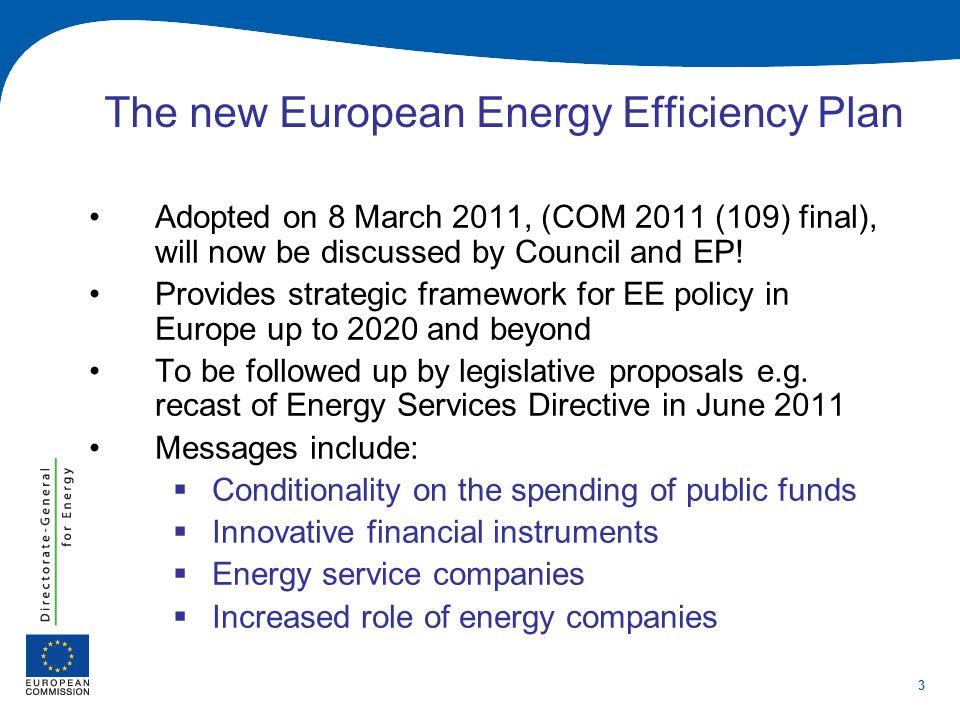 The new European Energy Efficiency Plan