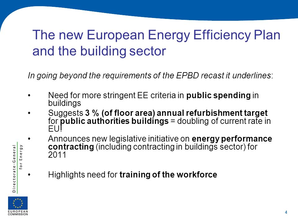 The new European Energy Efficiency Plan and the building sector