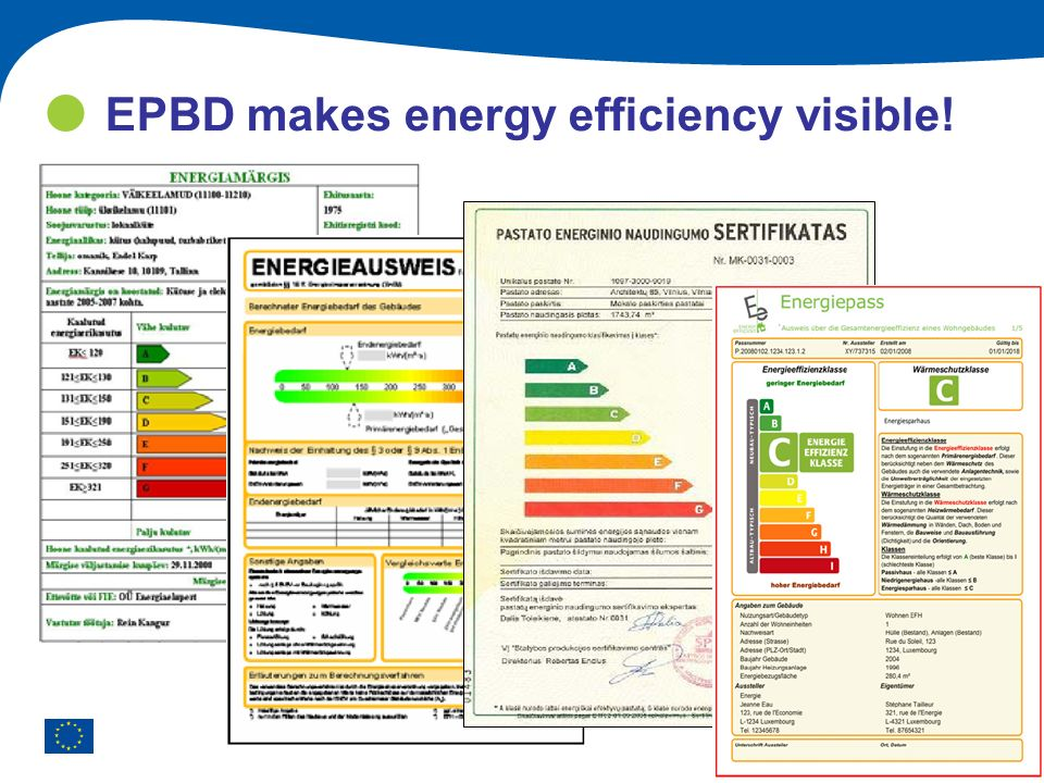 EPBD makes energy efficiency visible!