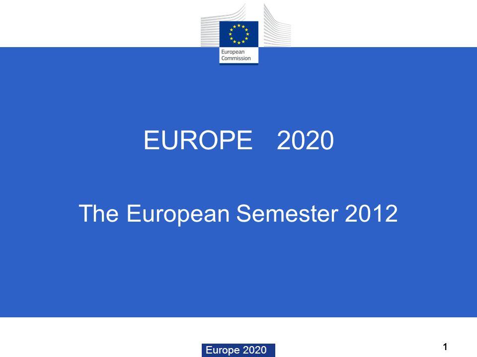 EUROPE 2020 The European Semester 2012