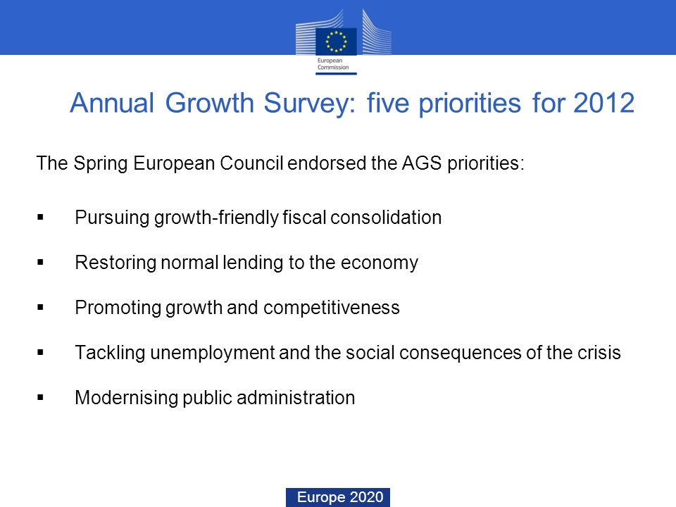 Annual Growth Survey: five priorities for 2012
