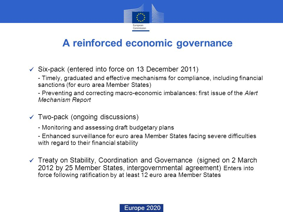A reinforced economic governance