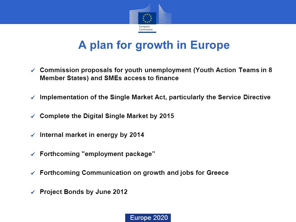 A plan for growth in Europe