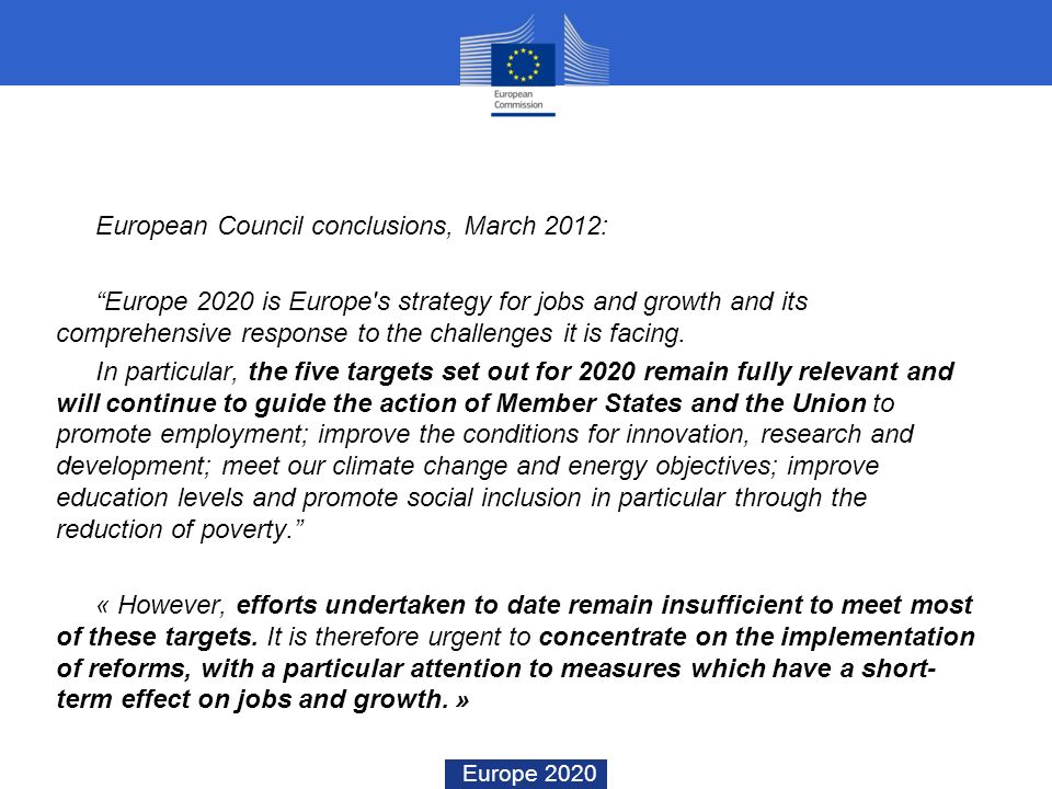European Council conclusions, March 2012: