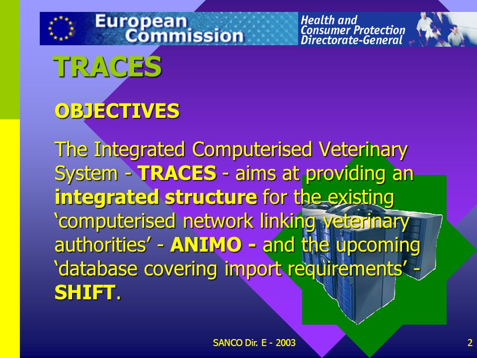 TRACES OBJECTIVES.