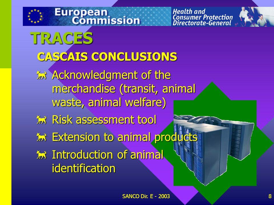 TRACES CASCAIS CONCLUSIONS