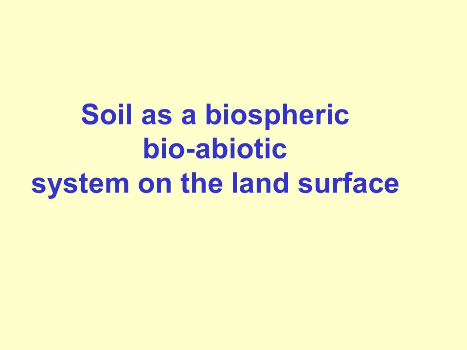 system on the land surface