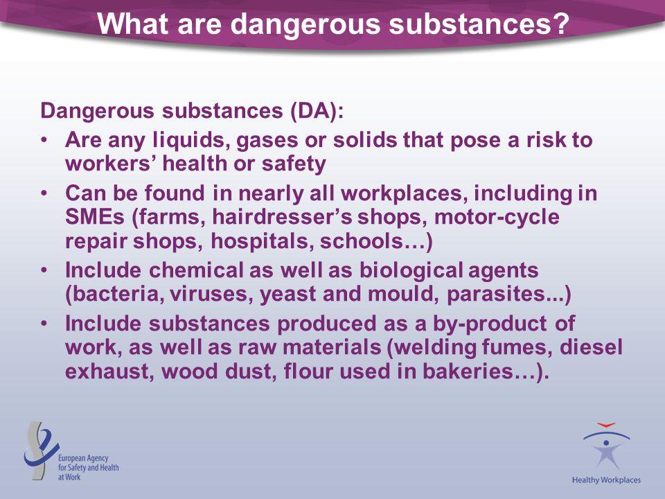 What are dangerous substances