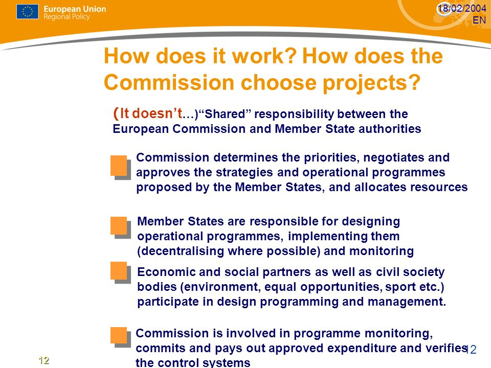 How does it work How does the Commission choose projects