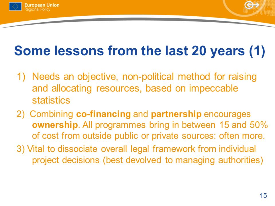 Some lessons from the last 20 years (1)