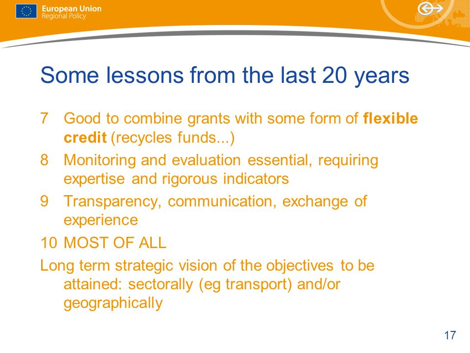 Some lessons from the last 20 years