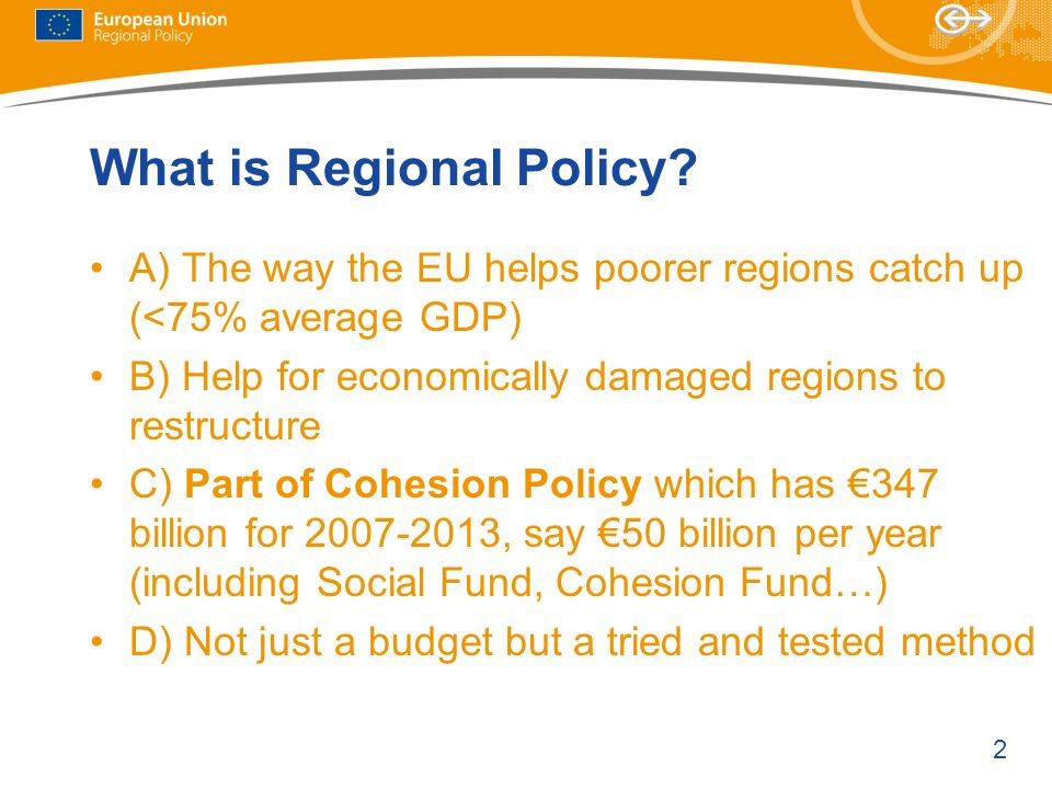 What is Regional Policy