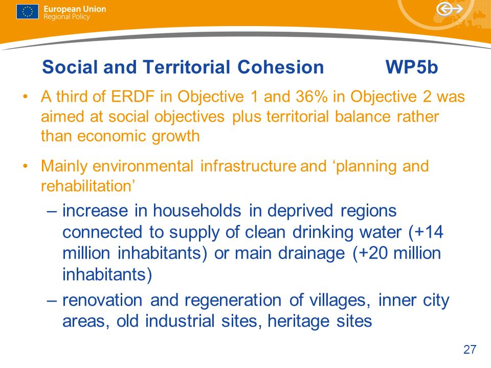 Social and Territorial Cohesion WP5b