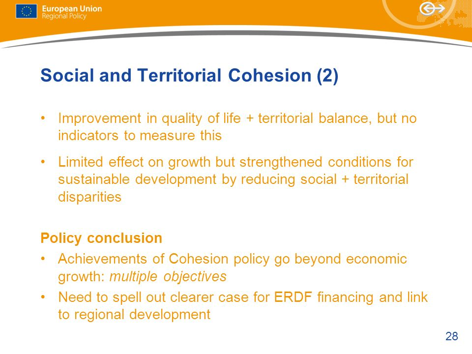 Social and Territorial Cohesion (2)