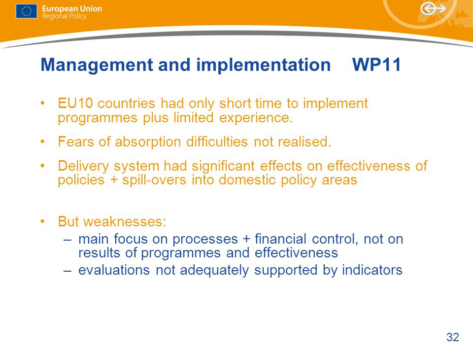 Management and implementation WP11
