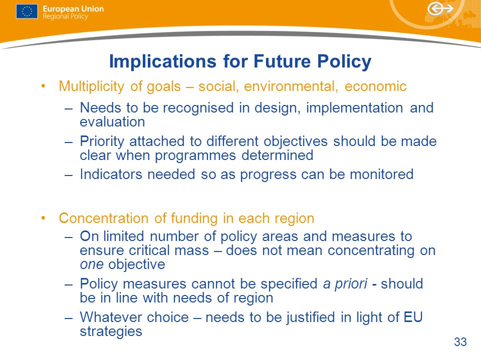 Implications for Future Policy