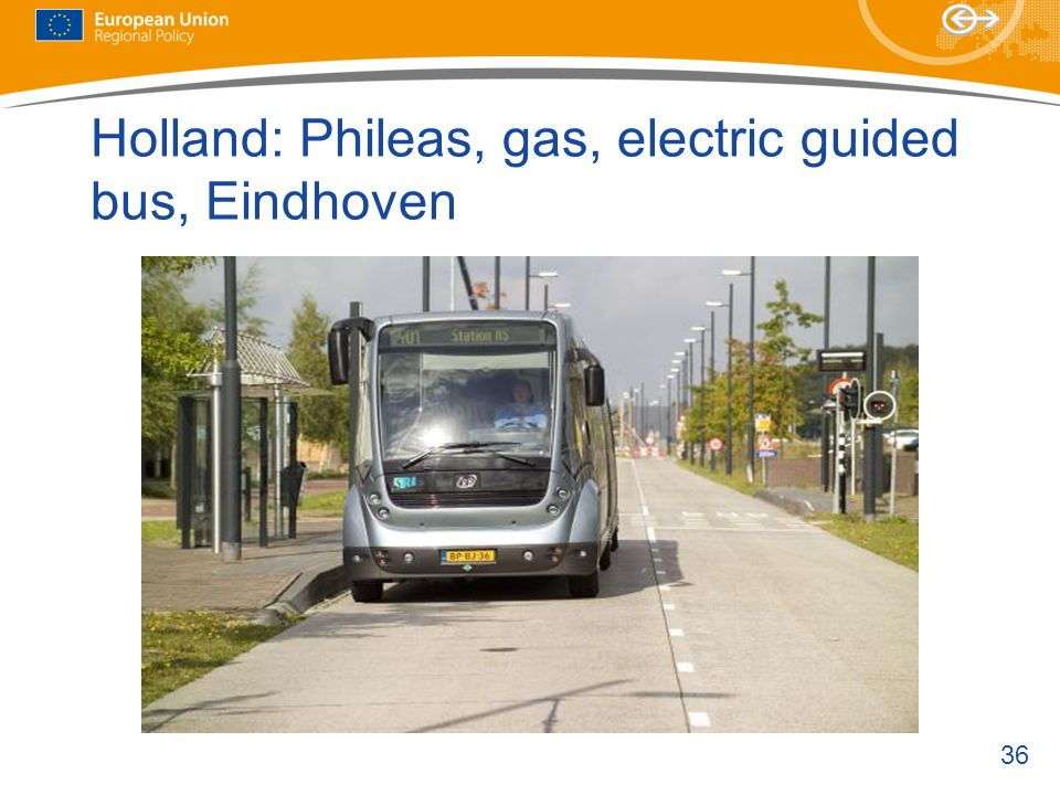 Holland: Phileas, gas, electric guided bus, Eindhoven