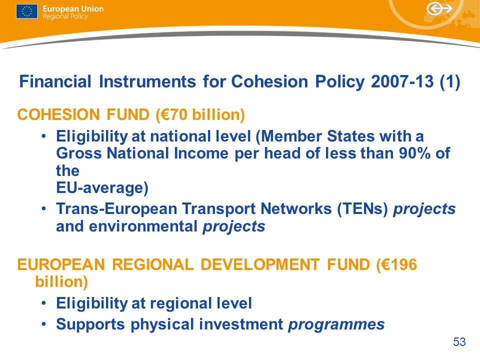 Financial Instruments for Cohesion Policy (1)