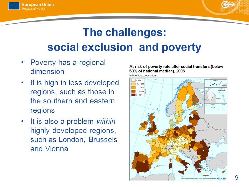 The challenges: social exclusion and poverty