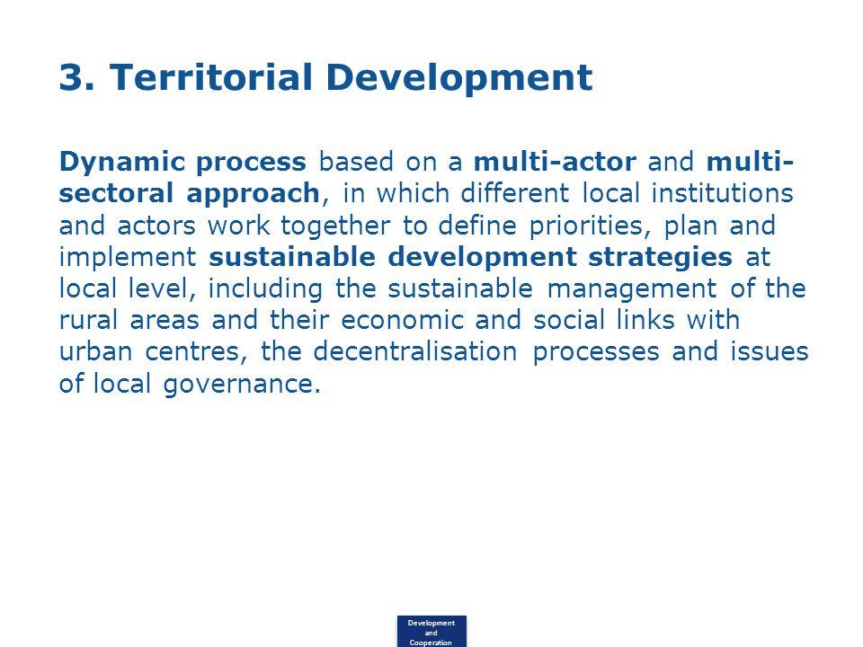 3. Territorial Development