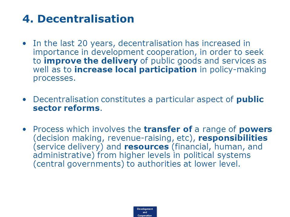 4. Decentralisation