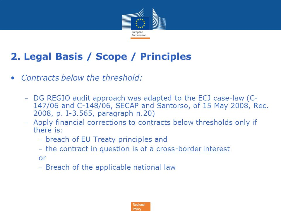 2. Legal Basis / Scope / Principles
