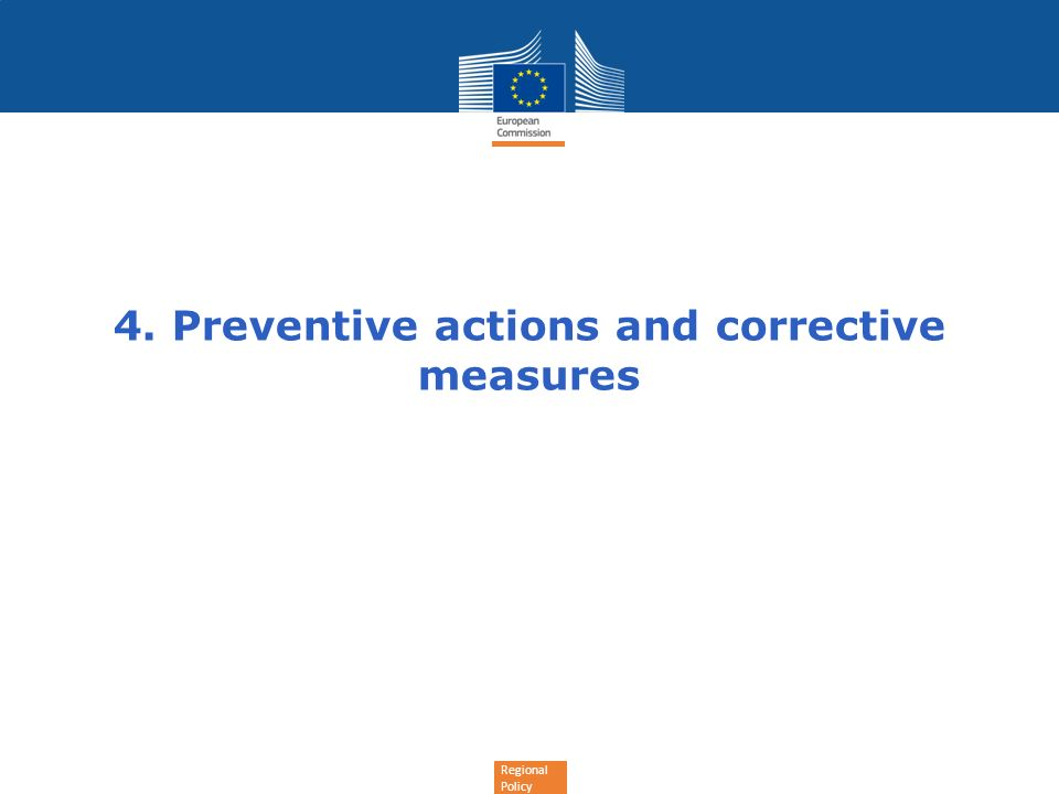 4. Preventive actions and corrective measures