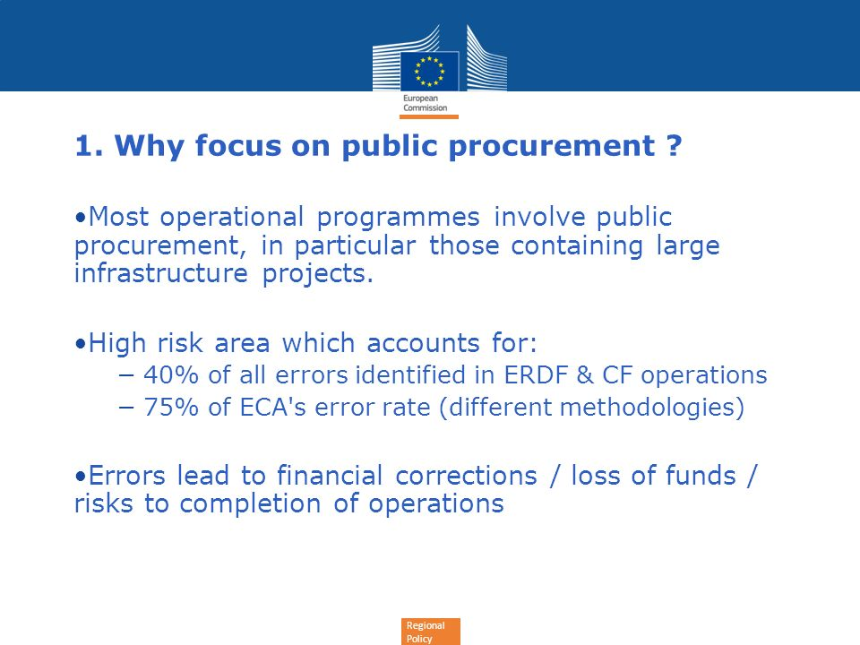 1. Why focus on public procurement