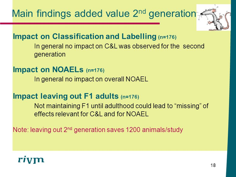 Main findings added value 2nd generation