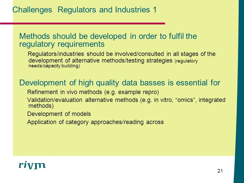 Challenges Regulators and Industries 1