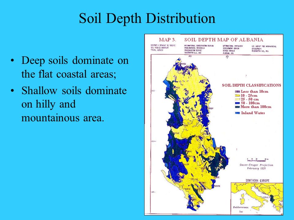 Soil Depth Distribution